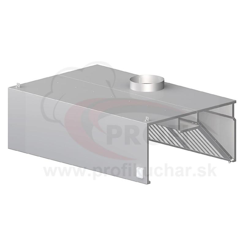 Nástenný odsávač pary - hranatý 2300x900x450mm