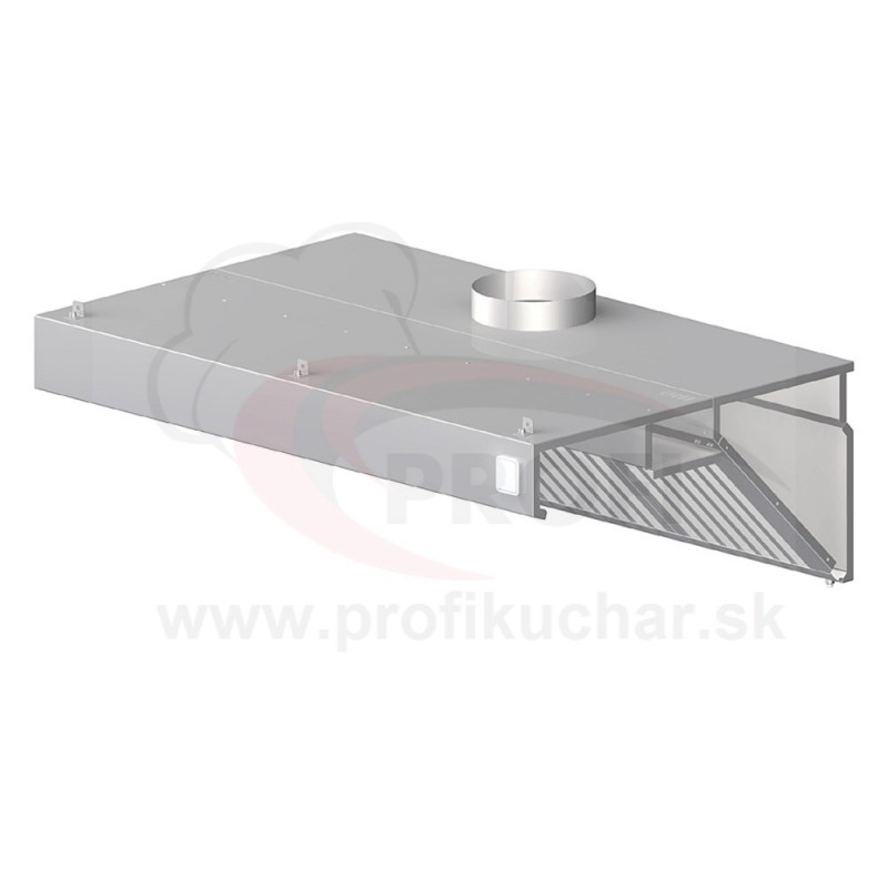Nástenný odsávač pary - kosený 1700x700x450mm
