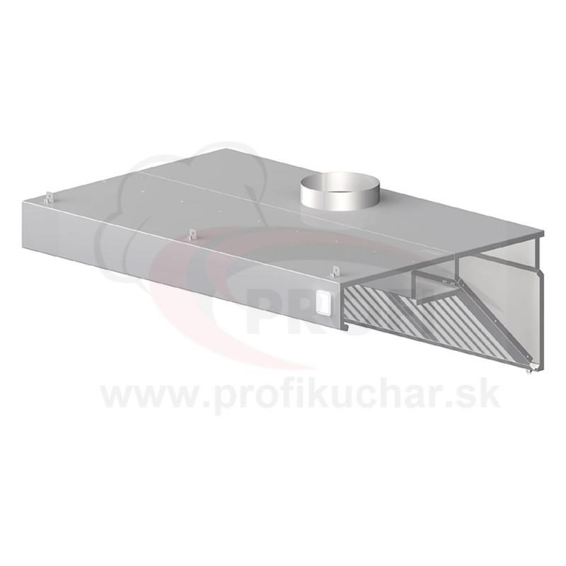 Nástenný odsávač pary - kosený 2500x900x450mm
