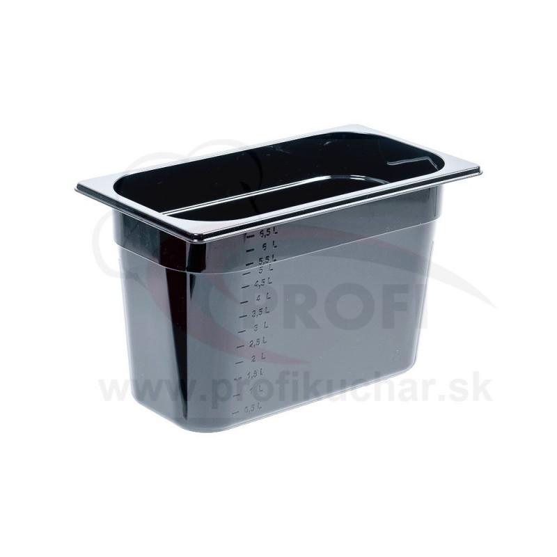 GN nádoba 1/3-200mm, čierný polykarbonát