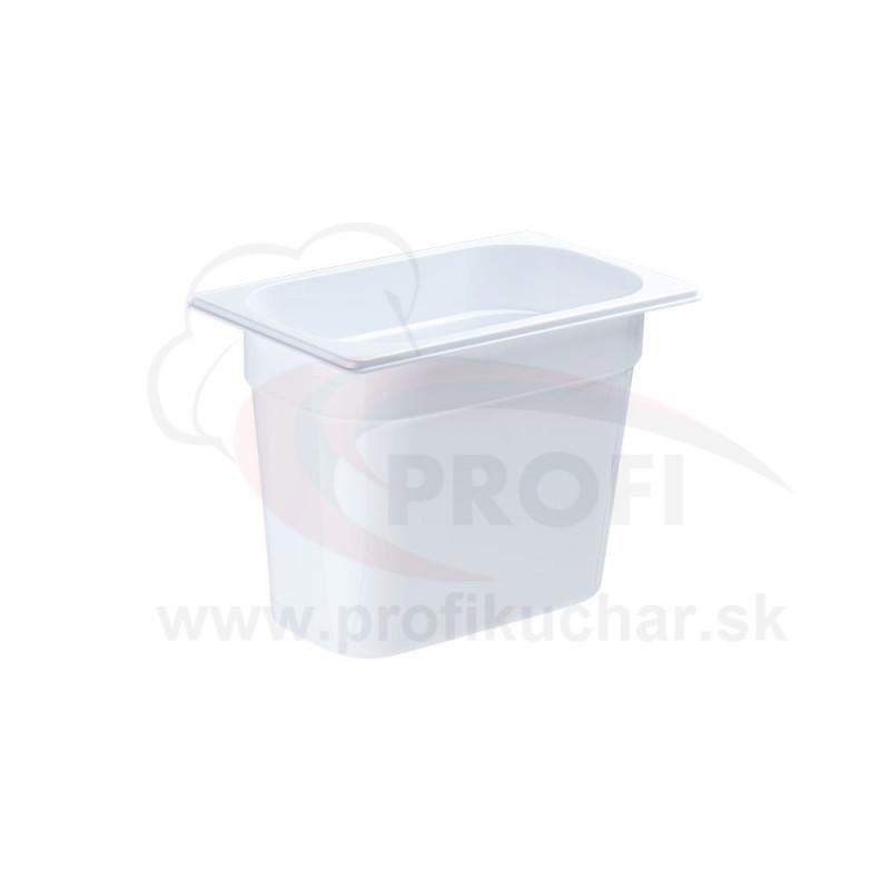 GN nádoba 1/4-200mm, bielý polykarbonát
