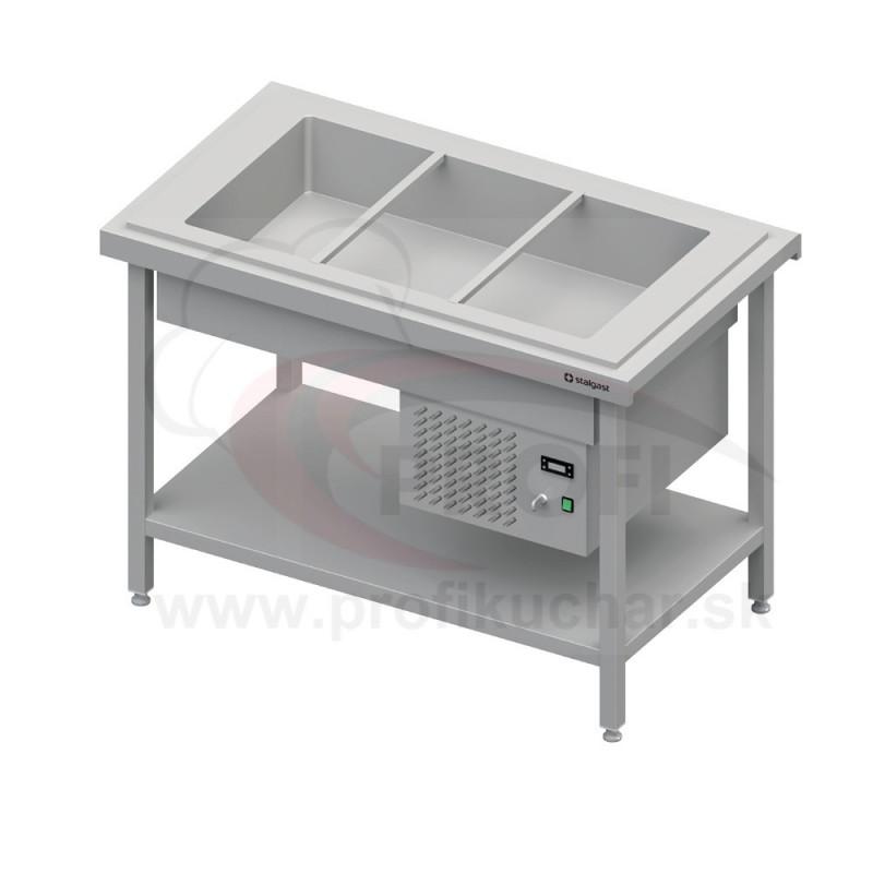 Chladený výdajný stôl na GN nádoby na 3x GN1/1