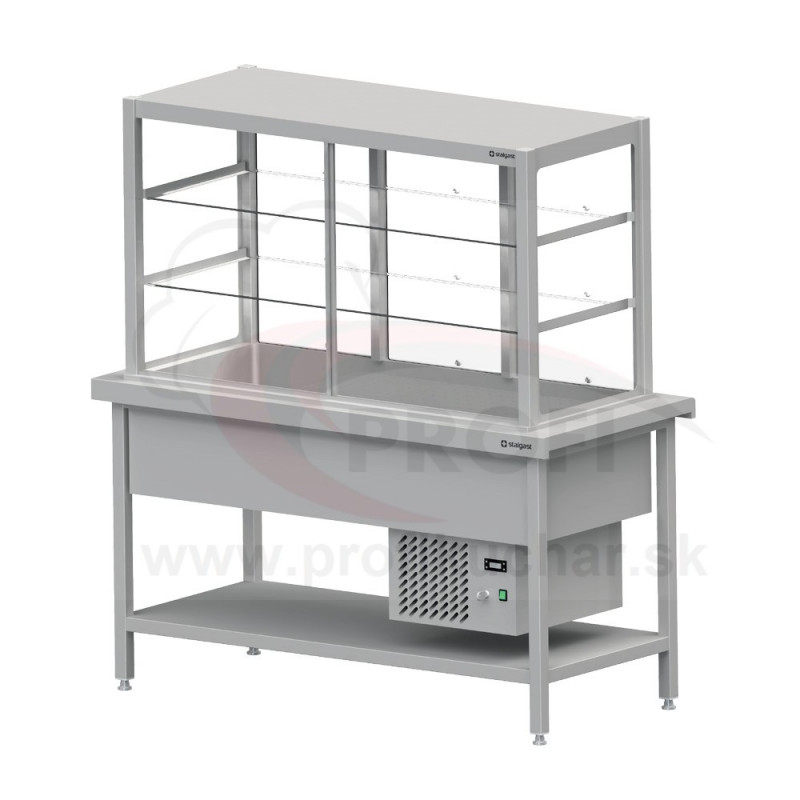 Chladená výdajná vitrína – samoobslužné na 4x GN1/1