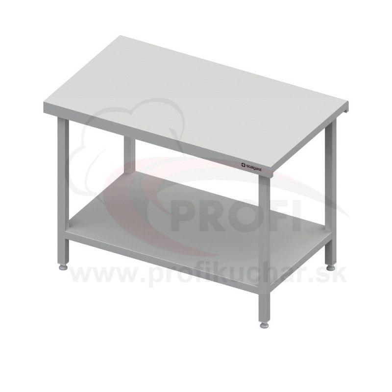 Neutrálný výdajný stôl s policou - 1300x710x880mm