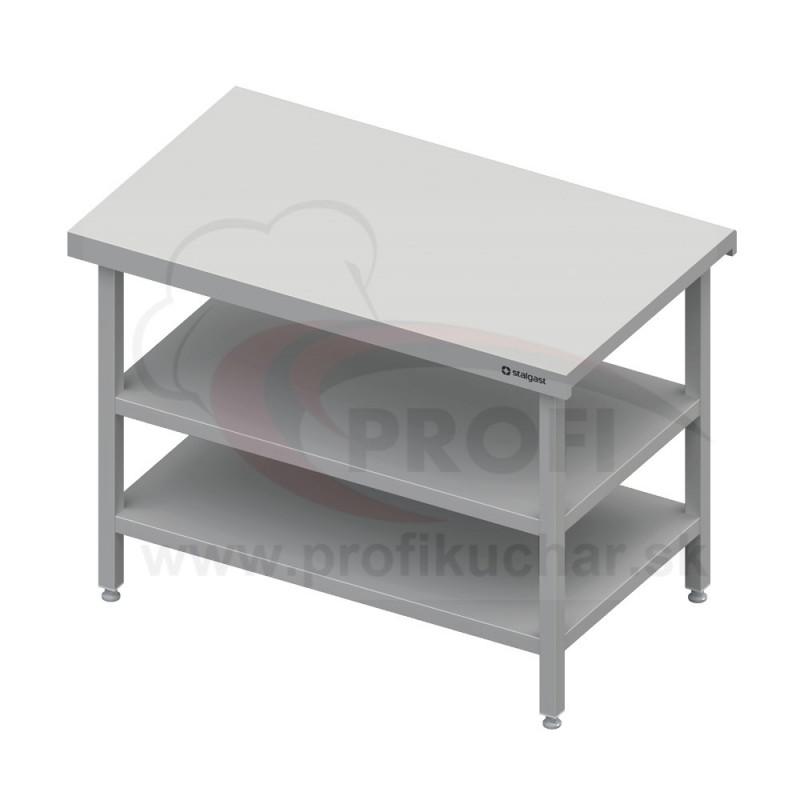 Neutrálný výdajný stôl s dvoma policami - 1200x710x880mm