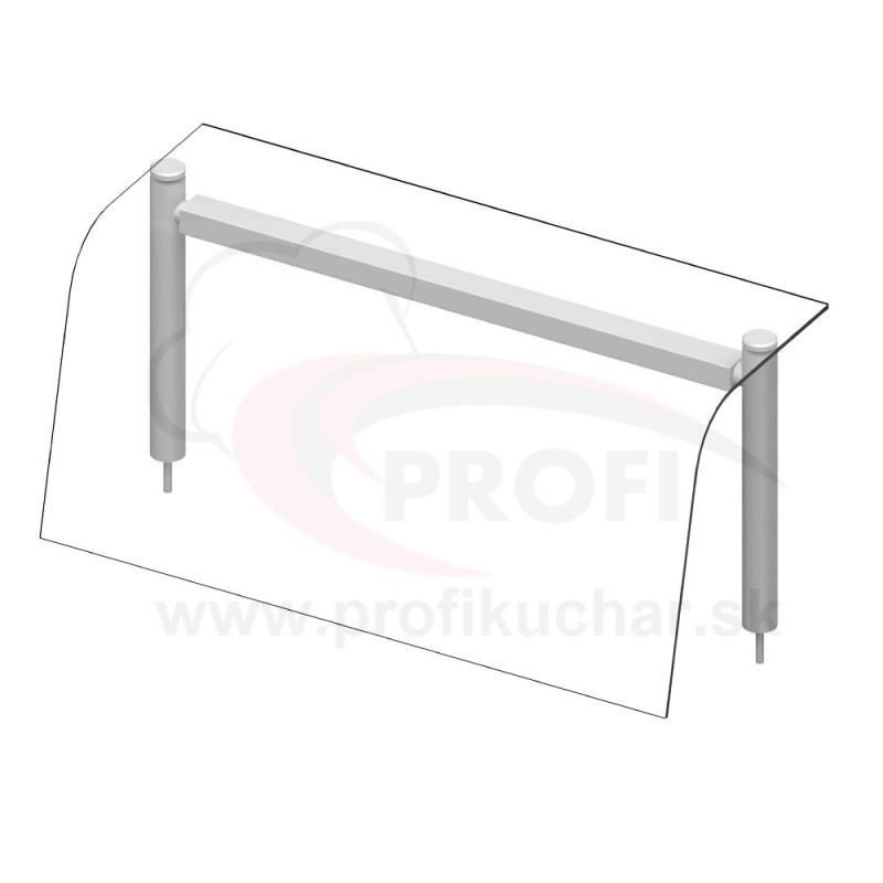 Nadstavba so sklenenou policou – neutrálne – 2x GN1/1