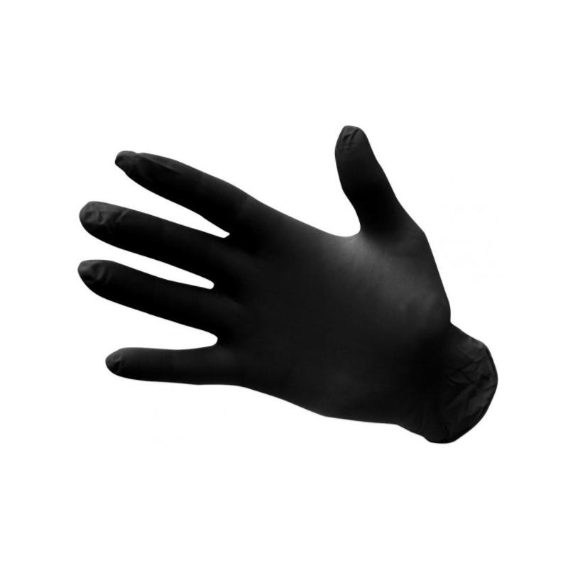 Nitrilové jednorázové rukavice nepudrované - černé
