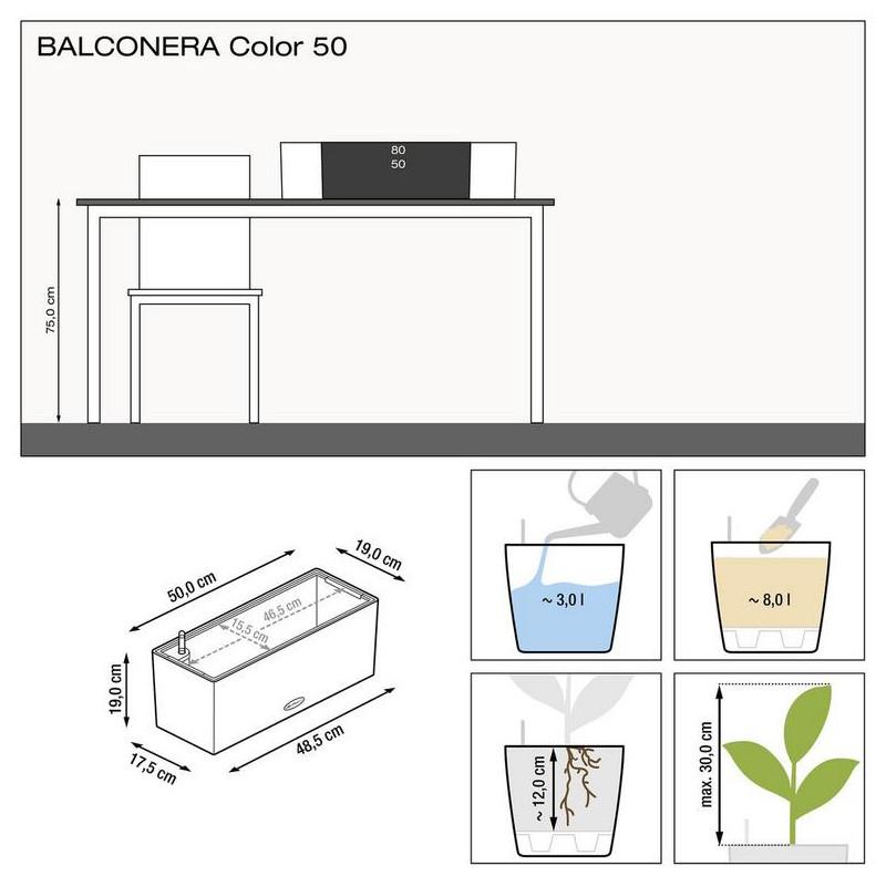 Lechuza Balconera Color 50 slate (seda) komplet