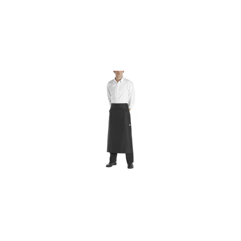 Barmanská zástera do pása čierna/bordová