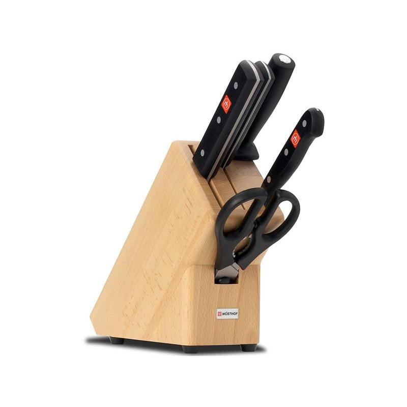 Blok s noži 5-dílný Wüsthof GOURMET