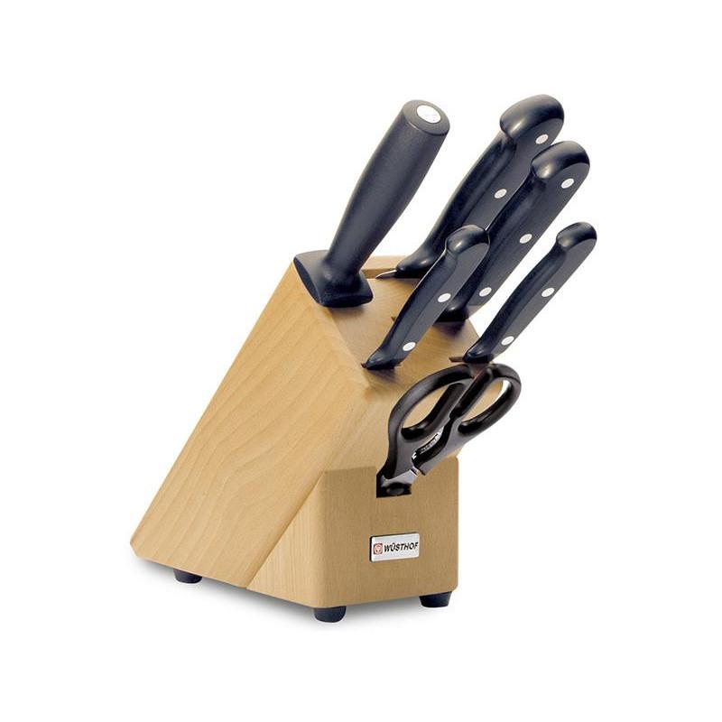 Blok s nožmi 6-dielny Wüsthof GOURMET 9867-2