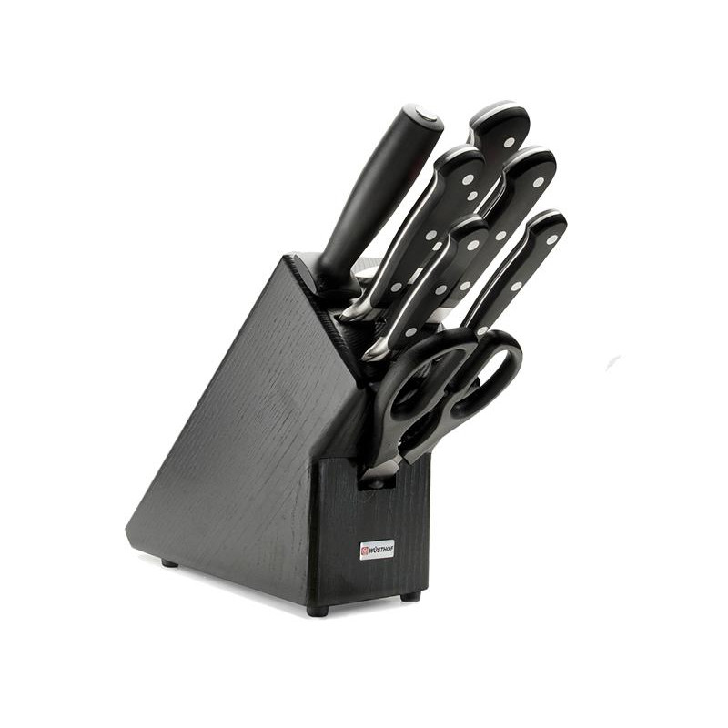 Blok s nožmi 7-dielny Wüsthof CLASSIC - tmavý 9837-200