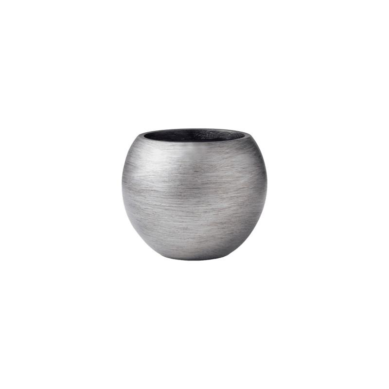 Kvetináč Capi Lux Retro Vase Ball strieborný 29x25 cm
