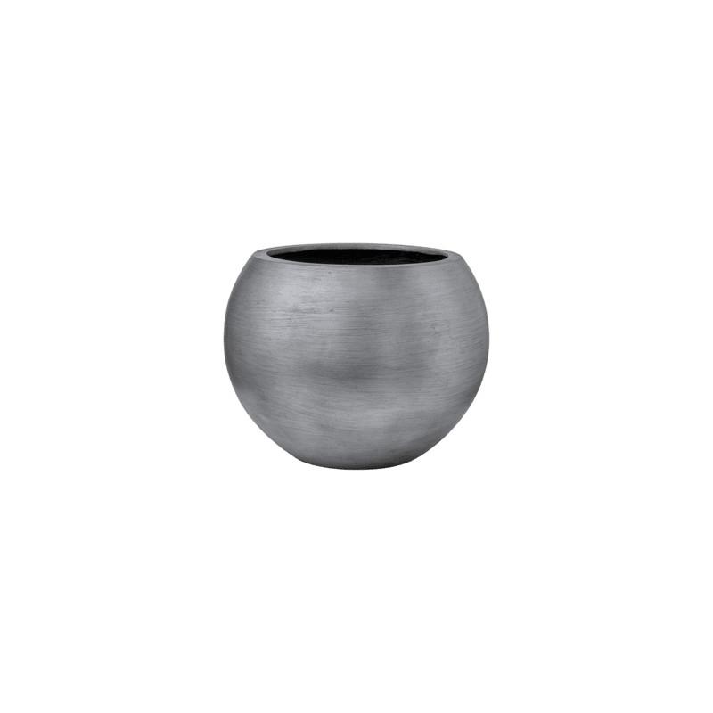 Kvetináč Capi Lux Retro Vase Ball strieborný 40x32 cm