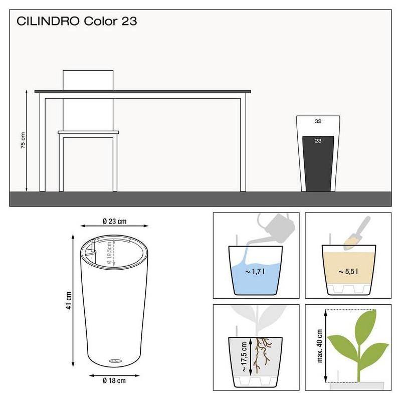 Lechuza Cilindro 23 All inclusive set slate (siva) 23x41 cm