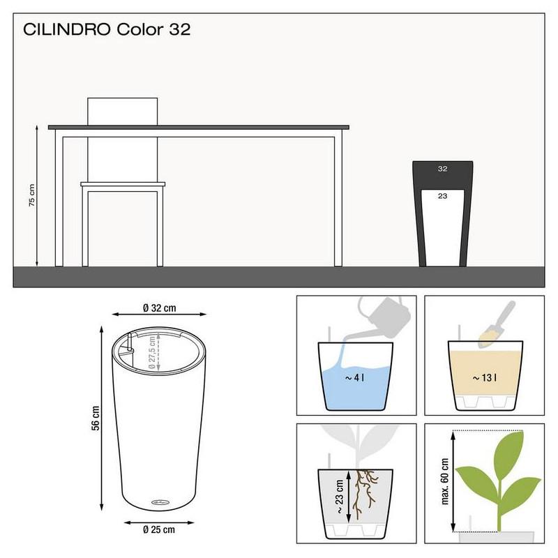 Lechuza Cilindro 32 All inclusive set slate (siva) 32x56 cm