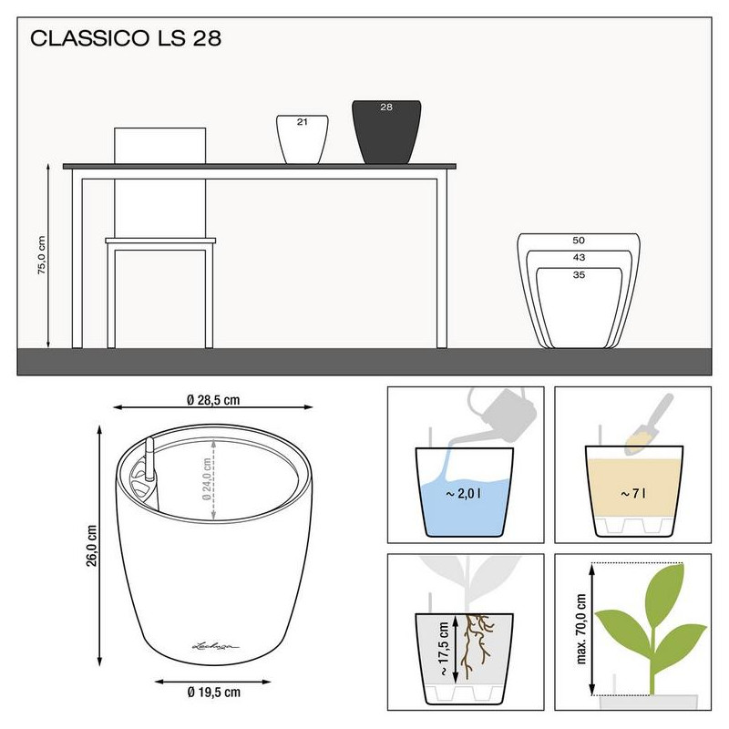 Classico LS 28/26 All inclusive set white