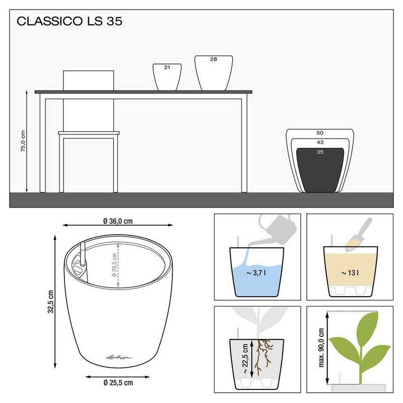Classico LS 35x32 black komplet