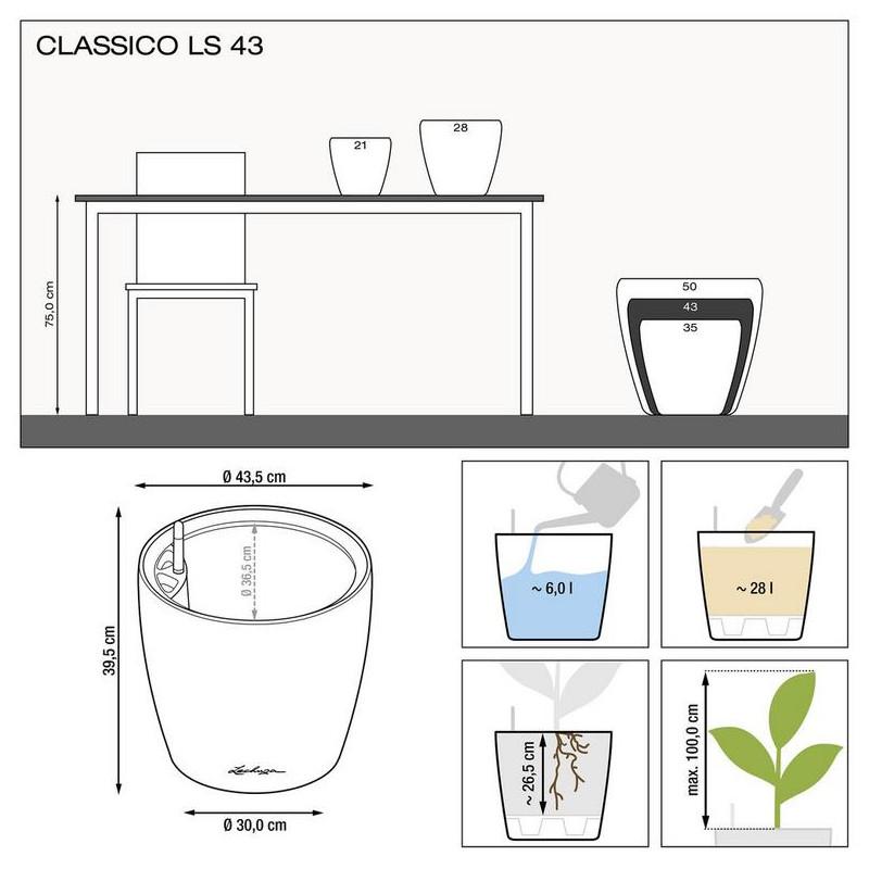 Classico LS 43x40 espresso komplet