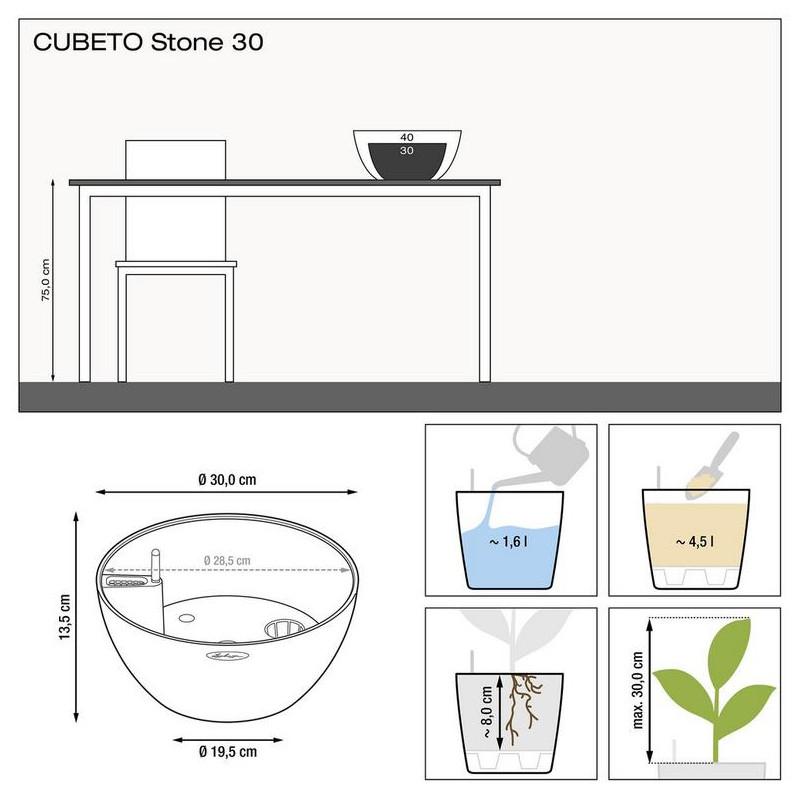 Cubeto color 40 set sand beige 40x18 cm