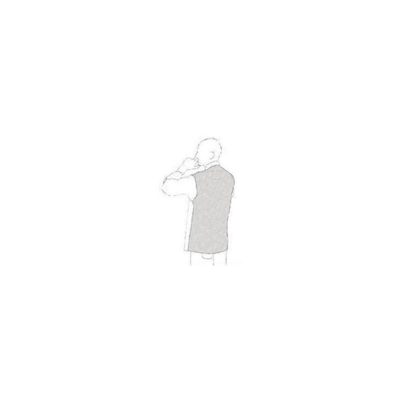 Kuchařský rondon - hnědý s lemováním