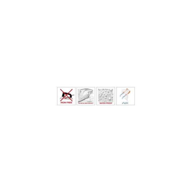 Kuchársky rondon MICROTEC krátky rukáv - čierny