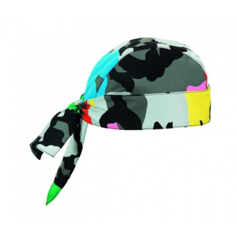 Kuchařská šátek na hlavu - vzor barevný maskáč