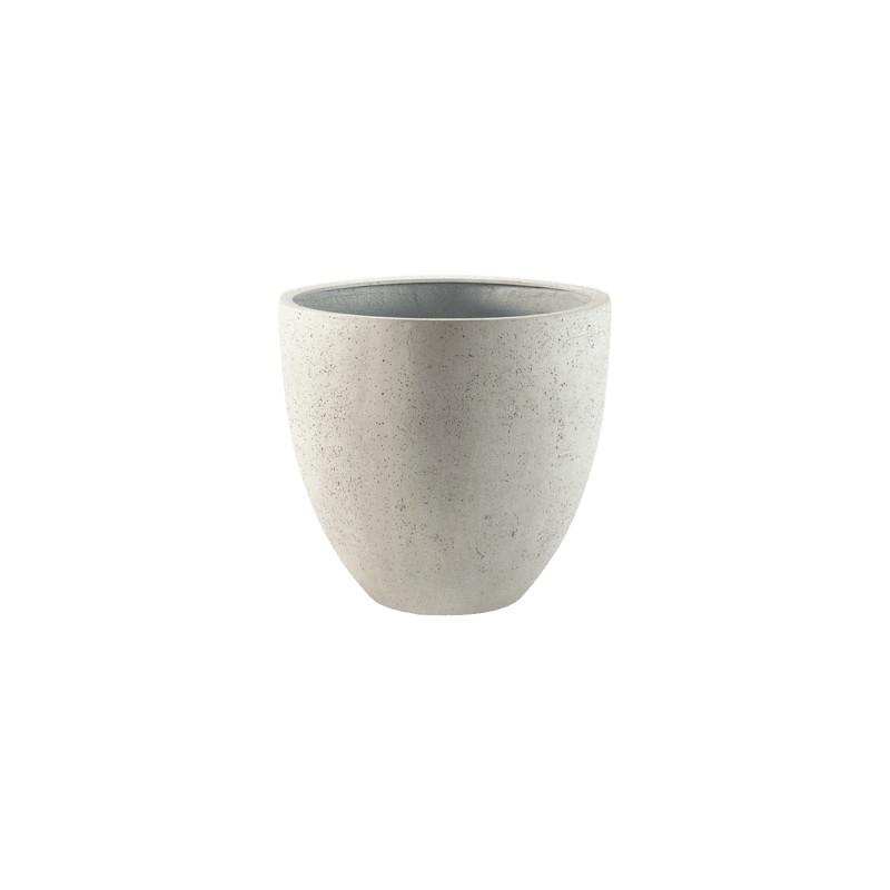 Kvetináč Grigio Egg Pot Antique béžová ( white concrete) 50x45 cm
