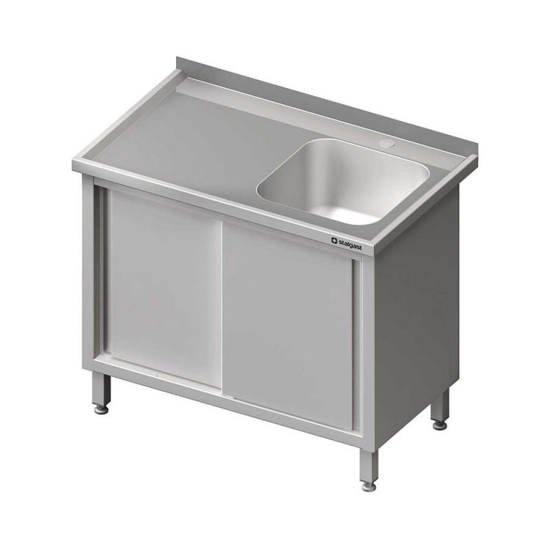 Umývací stôl krytovaný s drezom - posuvné dvere 1300x700x850mm