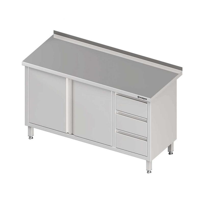Pracovný stôl so zásuvkami - 2x otváracie dvere 1300x700x850mm