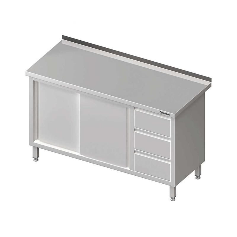 Pracovný stôl so zásuvkami -posuvné dvere 1700x700x850mm