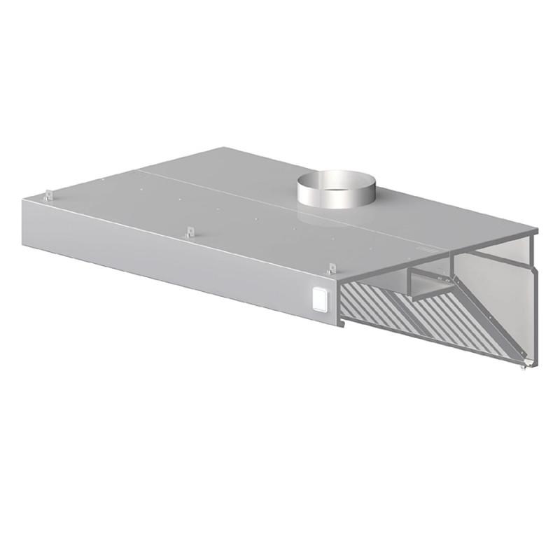 Nástenný odsávač pary - kosený 1200x1000x450mm