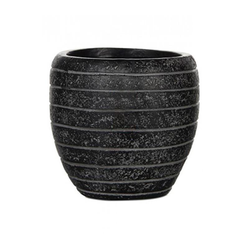 Capi Nature Row Vase elegant II black 10x10 cm