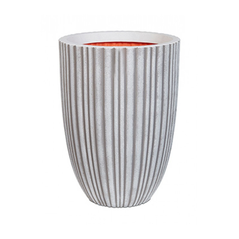 Capi Tutch Tube NL Vase elegant low tube ivory 34x46 cm