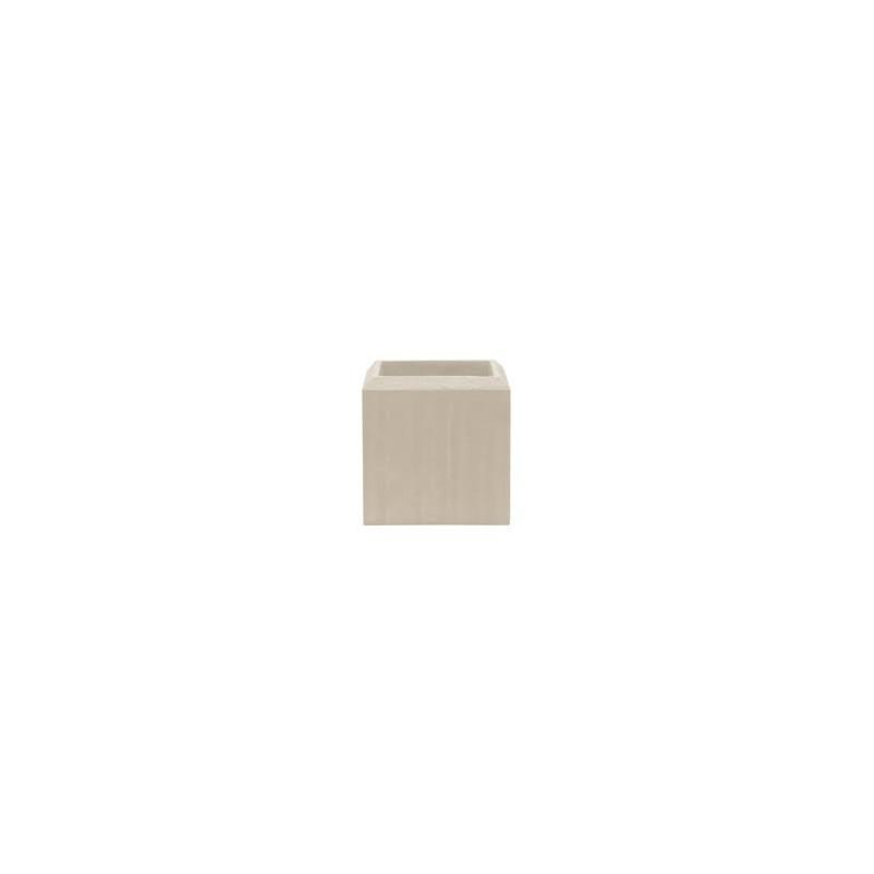 Polystone Square natural 17x17x17 cm