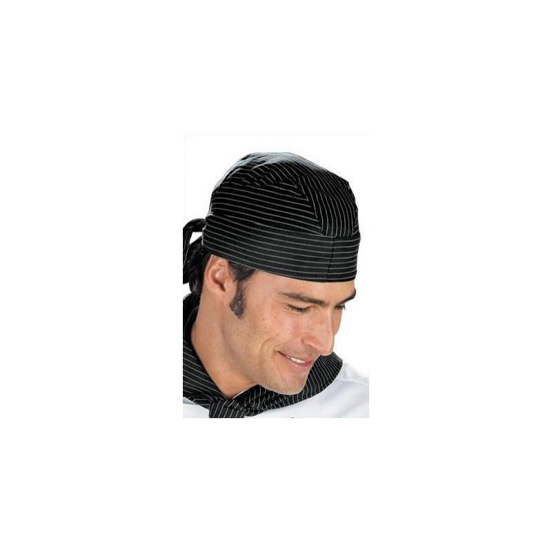 Kuchařský šátek kolem krku - jemné bílé pásy