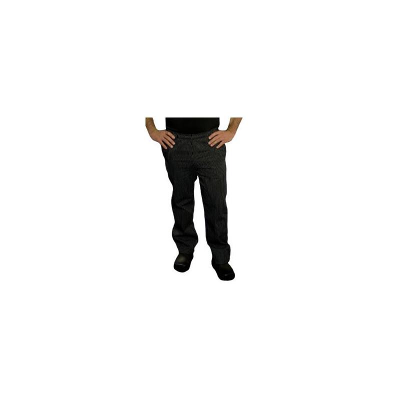 Kuchárske nohavice SIR - jemné biele pásy, 100% bavlna