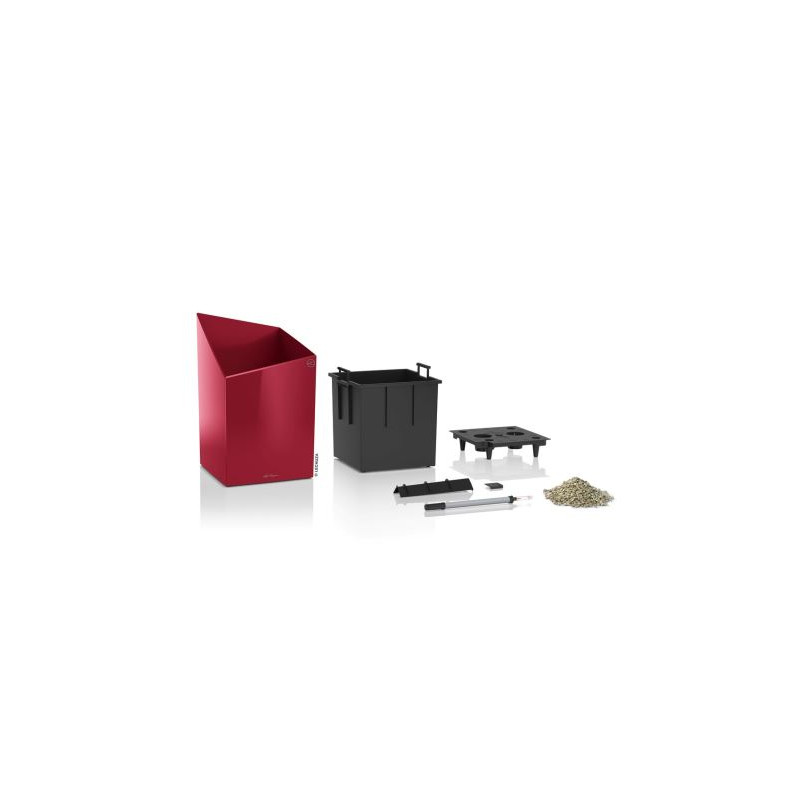 Lechuza Cursivo Premium All inclusive set Scarlet red High Gloss 30x30x49 cm