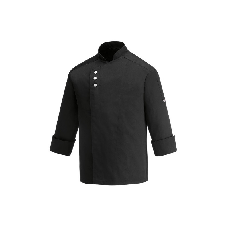 Kuchařský rondon METAL BLACK - dlouhý rukáv