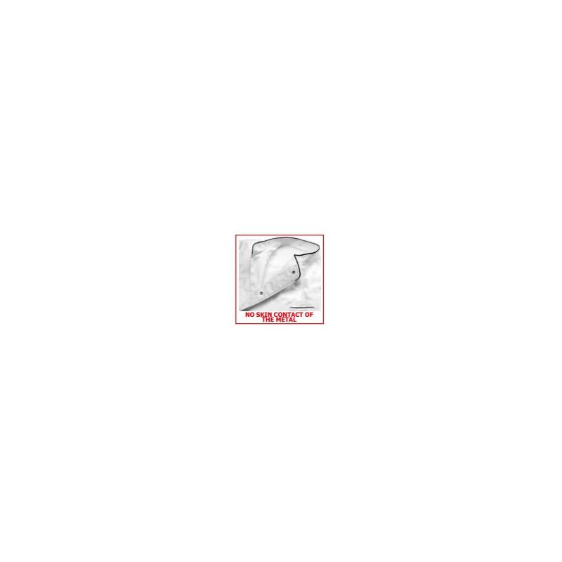 Dámský kuchařský rondon FLOWERS - bílý