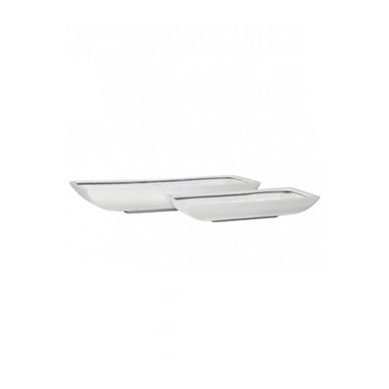 Fiberstone Mini glossy  white pandora  63/23/9 cm - vacsia