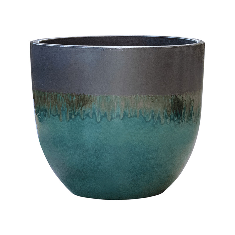 Kvetináč Pure couple metal ocean modrý 50x43 cm