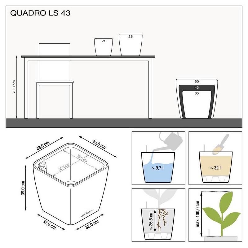 Quadro LS 43/40 all inclusive set antracit