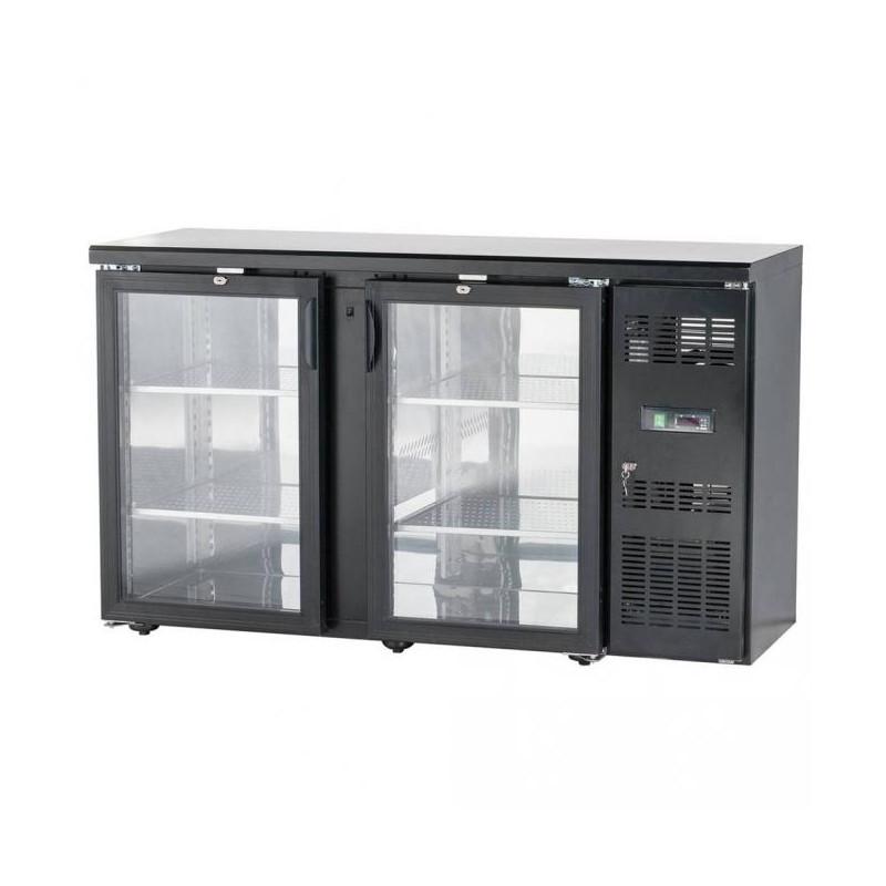 Presklený barový chladiaci pult – 3x dvere