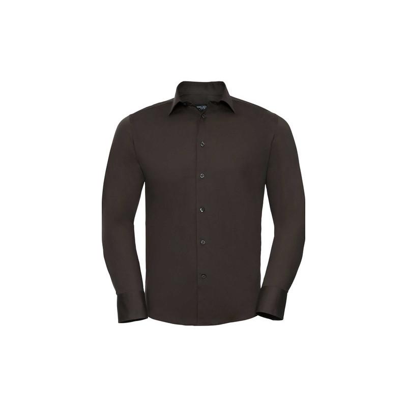 Pánská číšnická košile dlouhý rukáv slim fit - 4 barvy