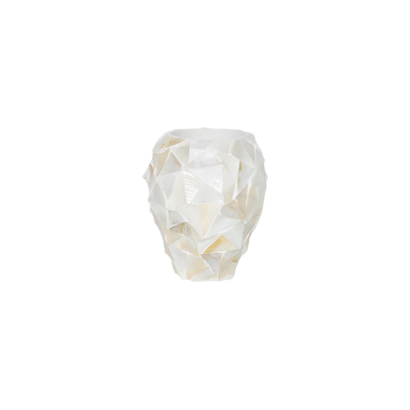 Shell Coast Orchid Planter White mother of pearl 17x24