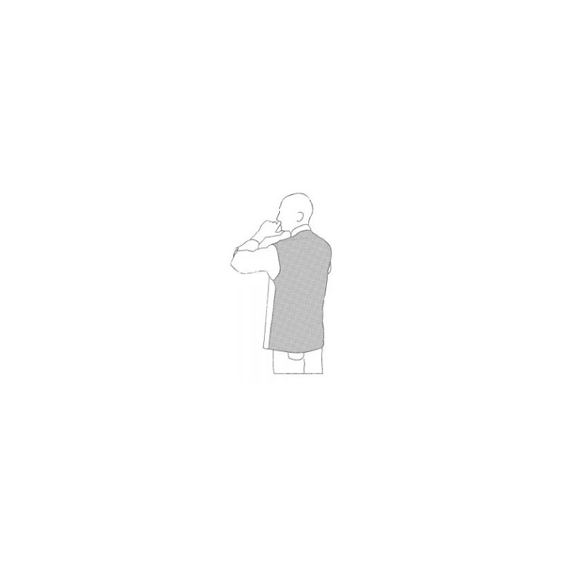 Kuchársky rondon OTTAVIO TENCEL biely - dlhý rukáv