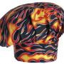 Vysoká kuchařská čepice - vzor plameny