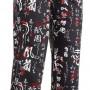 Kuchařské kalhoty Japonské znaky, 100% bavlna